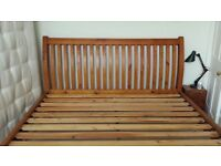 Superking 6ft open style sleigh bed in beautiful condition with mattress