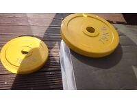 2x 15 kg Olympic Rubber Disc Weight Plates