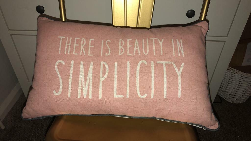 Pink Slogan Cushion