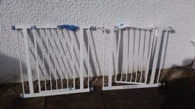 2 x Lindam stair gates