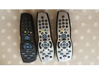 3 x sky HD box with remote controls.