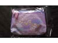 Sanrio Little Twin Stars Two Zip Pouch Coins Bag