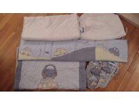 Boys Blue Applique Car Cot Bedding , Mothercare