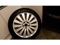Genuine Volkswagen passat b6 alloy wheel with Michelin sport3 tyer 8mm tread mint condition
