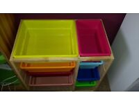 Colorful drawers for e.g.children's room