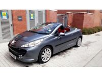 PEUGEOT 207 CC 1.6 SPORT CONVERTIBLE RED LEATHERS
