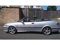 CONVERTIBLE SAAB 9-3 11MONTHS MOT LOW MILES