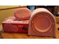 Used pink Fli sub and brand new pink Fli 6x9s