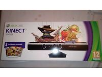 Brand new in sealed box xbox 360 kinect sensor with 3 games