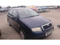 2001 SKODA FABIA, 1.4 PETROL, BREAKING FOR PARTS ONLY, POSTAGE AVAILABLE NATIONWIDE