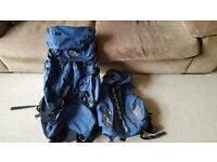 65L Lowe Alpine backpack & 10L backpack