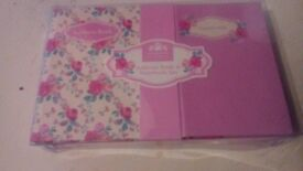 Address book and notebook set new boxed