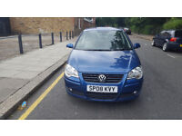 2008 Volkswagen Polo 1.4 Blue 5dr hatchback Manual Petrol MOT OCT2018 full service history 1owner