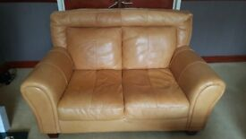 PRACTICALLY NEW 2 seater leather sofa perfect condition 3 YRS OLD (originally £999 new)