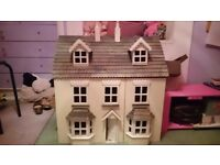 Large Wooden Dolls House with furniture. Excellent condition