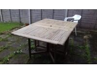 wooden garden drop leaf table