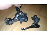 Used Shimano Claris 2400 Road 2×8 Speed Groupset FD-2400 RD-2400 Derailleur Set