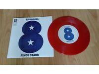 ringo starr ( beatles ) liverpool rare red vinyl 7 inch mint unplayed
