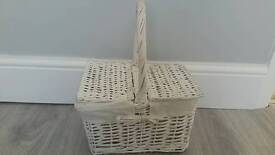 Pretty white basket