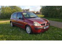 2004 04 reg Renault clio 5 door hatchback