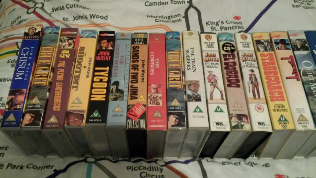 John Wayne vhs tapes