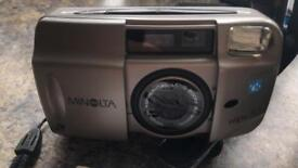 Minolta Vectis 30 compact camera with flash and case