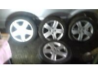 2004 peugeot 307 wheels with tires