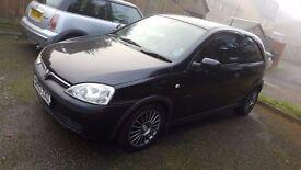 Vauxhall Corsa 1 litre Black