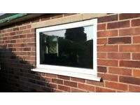 White UPVC double glazed window