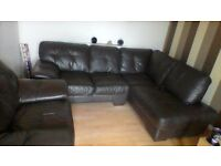 leather corner sofa and matching chair, i brought new from scs few yrs ago