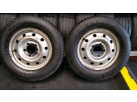 225 65 16 C 2 x Tyres + 2 x Steel Wheels with Renault Master,Vauxhall Movano