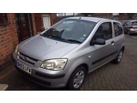 URGENT..£500.ono. Hyundai getz.2003...2 owners..8 month mot..full 100% history and paperwork..