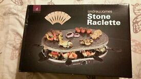 NEW UN OPEND Andrew James stone raclette indoor bbq grill pan