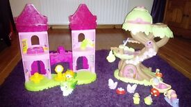 ELC Happyland Fairy Tree house and Mega blocks princess castle