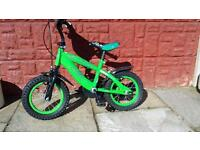 Green bike for age 3-5 year old.
