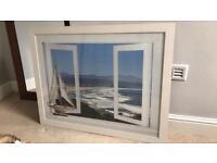Large white photo frame