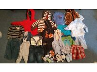 Bundle of 6-9mths baby boy clothes.