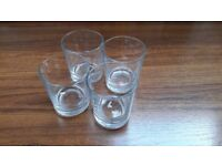 4 x glass tumblers