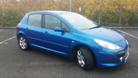2006(06)PEUGEOT 307 1.6 HDi S 110BHP MET BLUE,NEW MOT,BIG MPG,CLEAN CAR