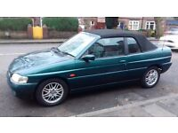 CLASSIC FORD ESCORT CONVERTIBLE 1.8i GHIA - 67,000 miles - MOT'd - LEATHER