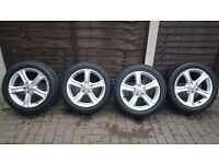 AUDI A4 A5 A6 4X17 Alloy wheel 225/50 new model with tyre Continental Contactsport