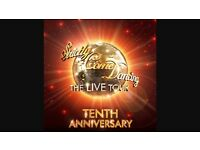 2 x STRICTLY COME DANCING MANCHESTER TICKETS 14:30 4th Feb 2017 centre stage close to the front!!!