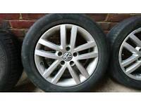 """16"""" Vw alloy wheels and tyres"""