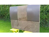 King size suede and leather headboard