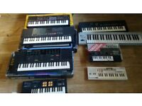 12 x keyboards yamaha vss 200 / pss 280 casio sk5 sampling