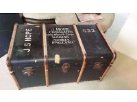 Vintage Antique Travel Chest Trunk ~ £100