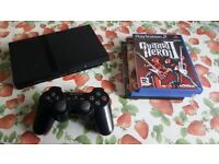Slim Playstation 2 Bundle with Games