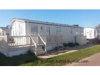 Holiday caravan for hire throughout the year at Felixstowe 4 berth no long term bookings