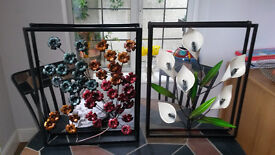 wall art - two quality metal sculptures