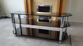 FREE - Black and silver TV stand